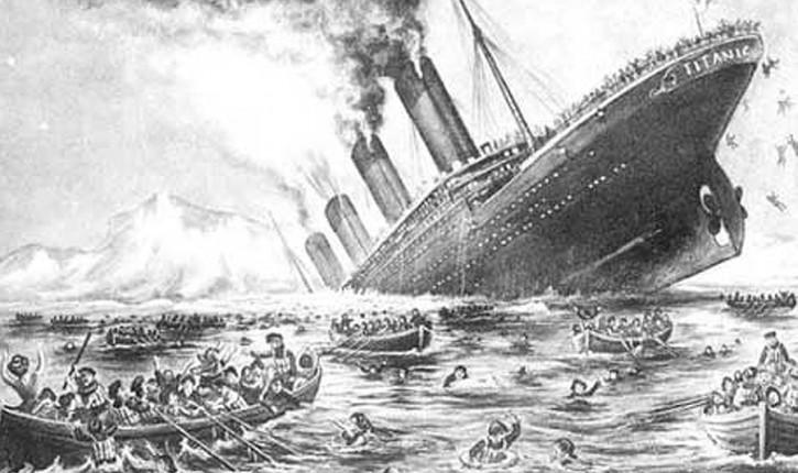 100 years ago Titanic sank into a deep ice cold ocean ...